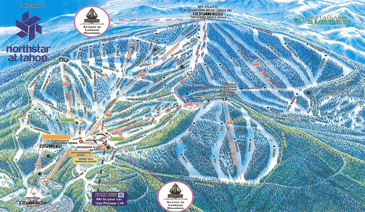 Northstar Trail Map at Tahoe