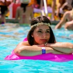 LA's Top Pool Parties of 2015 - girl floating in pool