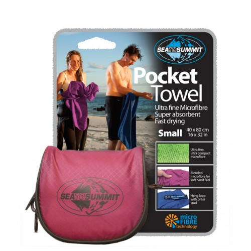 Pink Pocket Travel Towel - travel accessories