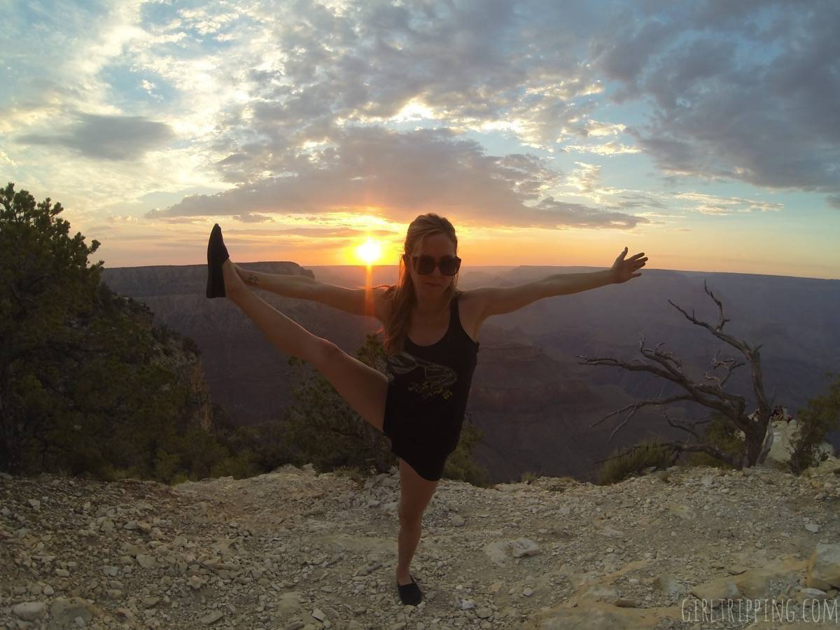 Sunrise Yoga at the Grand Canyon - https://girltripping.com