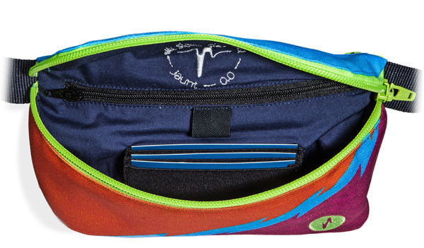 Jaunt Pack inside main pocket - Jaunt Fanny Pack Review