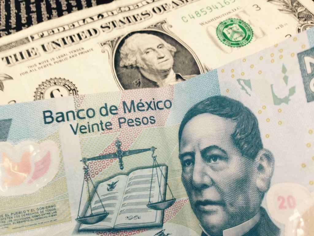 Dollar and pesos