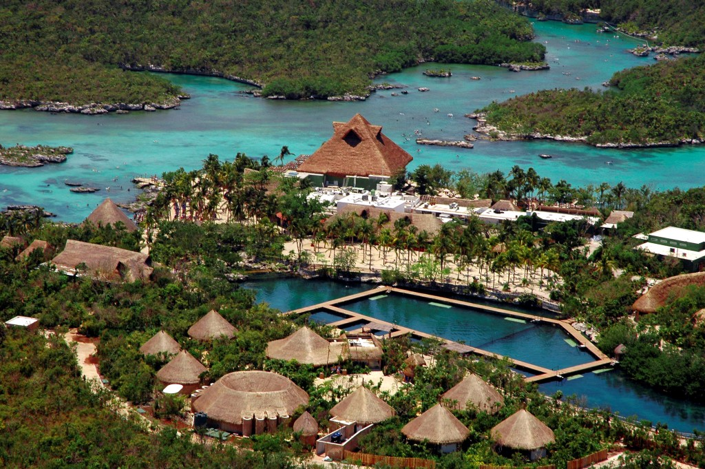 Xel-ha Waterpark Aerial View