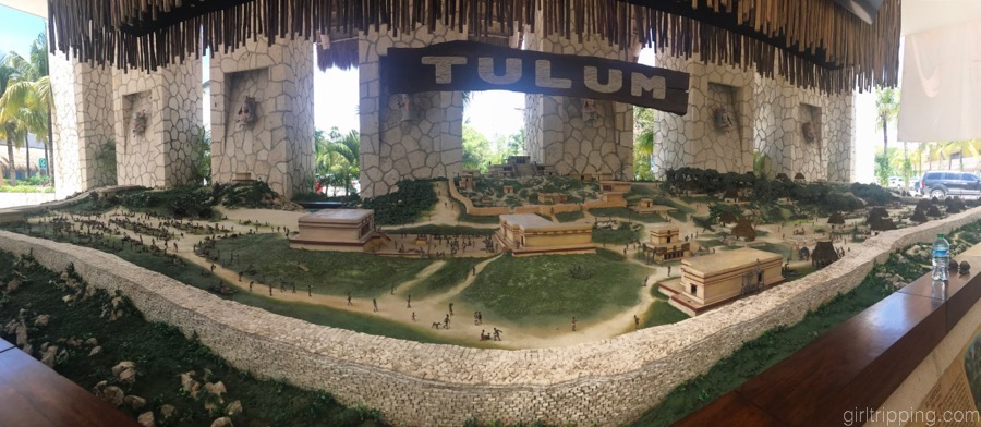Tulum map at Xelha Waterpark