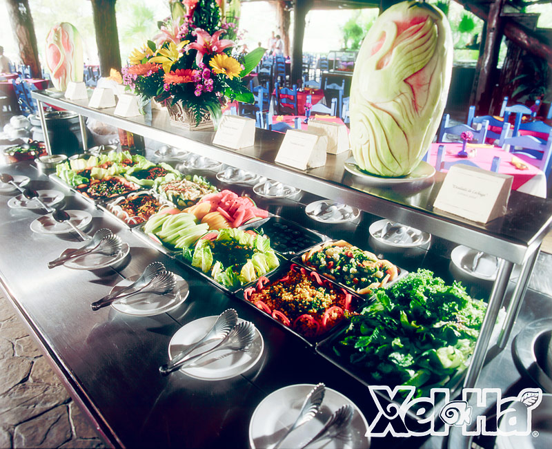 Xelha restaurants all-inclusive food
